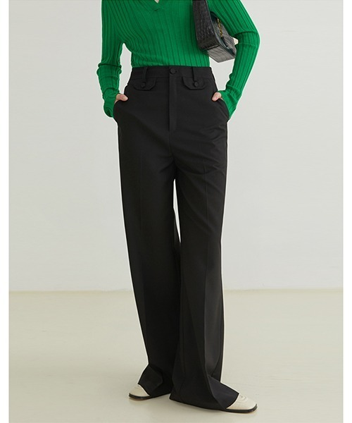 【Fano Studios】【2021AW】High waist small pocket pants FQ21K027