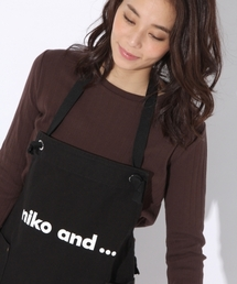 niko and...Goods(ニコアンドグッズ)の「オリジナル ニコロゴエプロン【niko and...】(エプロン)」