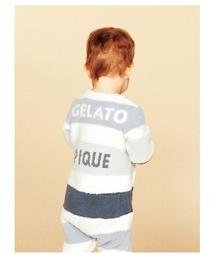 519a1615faf7c gelato pique(ジェラートピケ)の「 ベビモコ 4ボーダー baby ...