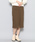 SENSE OF PLACE by URBAN RESEARCH(センスオブプレイスバイアーバンリサーチ)の「ウォームストレッチスリムタイトスカート(スカート)」|ブラウン