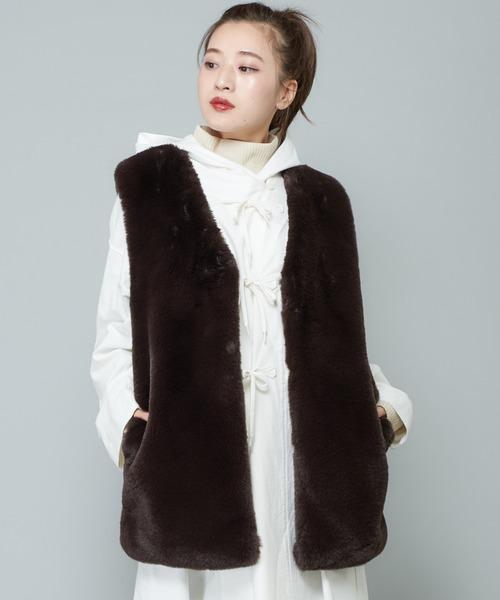 品質のいい CIAOPANICフェイクファーベスト(ベスト)|CIAOPANIC(チャオパニック)のファッション通販, お待たせ!:22f507a8 --- blog.buypower.ng