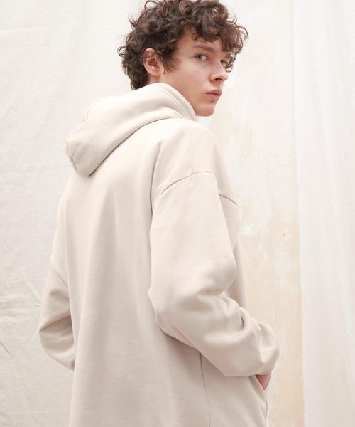 クオリティーブライト裏毛オーバーサイズ スウェットパーカー HEAVY WEIGHT WIDE PARKA (EMMA CLOTHES)