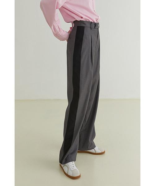 【Fano Studios】【2021AW】Contrast side line suit pants FQ21K015