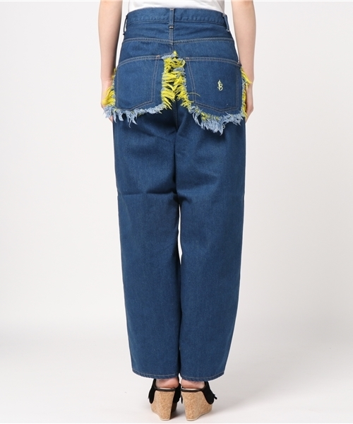 LittleSunnyBite/リトルサニーバイト/Floral Denim Pants
