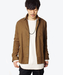 LOUNGE LIZARD(ラウンジリザード)の30/1 TOP 起毛 FLANNEL シャツ(シャツ/ブラウス)