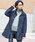 Fashion Letter(ファッションレター)の「マウンテンパーカ— インフード ソフトモッズコート(マウンテンパーカー)」|ネイビー