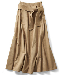 IEDIT(イディット)の【追加生産決定!】IEDIT フレアーラインがドラマティックなマキシスカート(スカート)