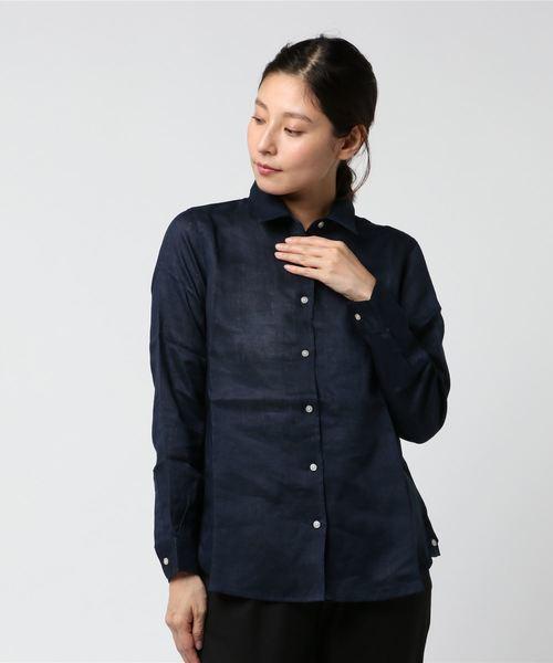 フレンチリネンベーシック2WAYシャツ