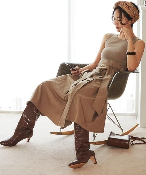 【誠実】 ニットコンビトレンチワンピース(ワンピース)|SNIDEL(スナイデル)のファッション通販, 糀和田屋:1f179e5d --- fahrservice-fischer.de