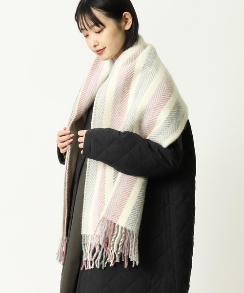 【TWEEDMILL/ツイードミル】LIFESTYLE KNEE RUG HERRINBONE STRIPE