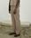 JUHA(ユハ)の「SUNNY TROPICAL FLARE TROUSERS(スラックス)」 ベージュ