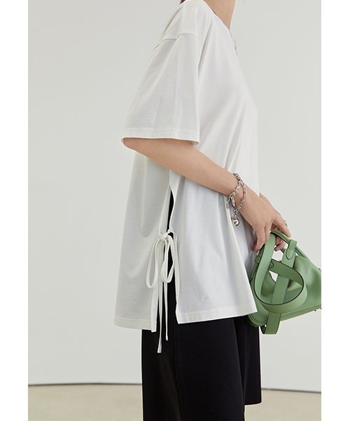 【Fano Studios】【2021SS】Casual loose side slit T-shirt FX21S185