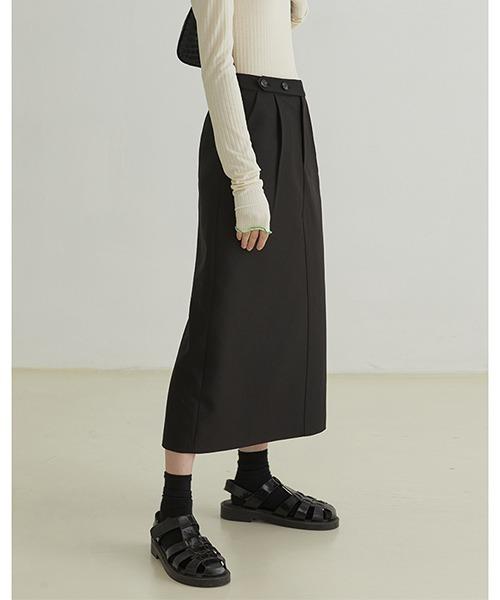 【Fano Studios】【2021AW】Side tuck straight long skirt FQ21B011