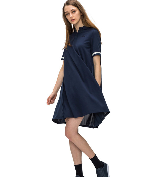 05251181c7583 セール 背面プリーツポロドレス(半袖)(ワンピース)|LACOSTE ...