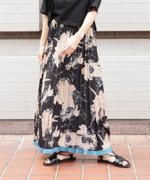 FREE'S MART(フリーズマート)の◆裾ラインフラワープリーツスカート(スカート)