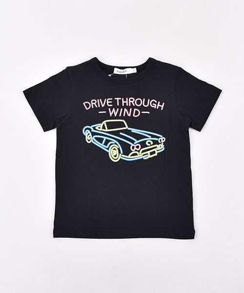 SLAP SLIP/天竺ネオンクルマプリントTシャツ