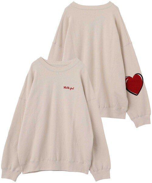 HEART ELBOW SWEAT TOP
