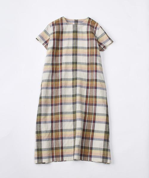 注目ブランド リネンのマドラスチェックドレス(ワンピース)|45R(フォーティファイブアール)のファッション通販, 東郷町:b43e927e --- innorec.de