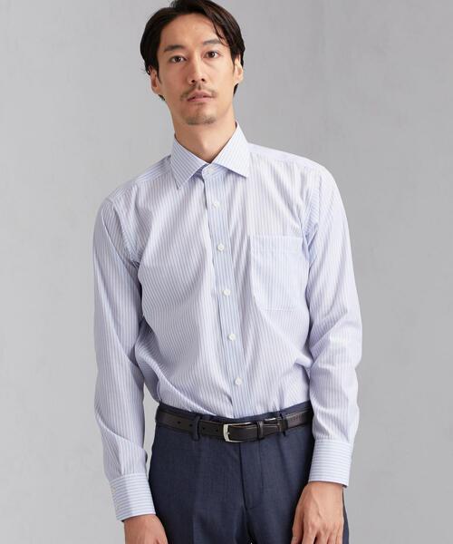 [ハービーアンドハドソン] HARVIE&HUDSON オルタネートストライプ BWD ドレスシャツ