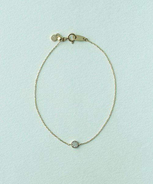 【まとめ買い】 K10YG ブリリアント ダイヤモンド ブレスレット, 八東町 85e36ff4
