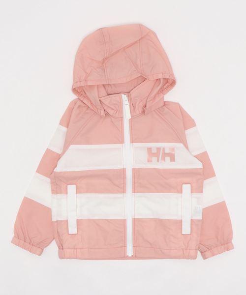 HELLY HANSEN(ヘリーハンセン)の「HJT12001/K boder jacket//ジャケット ボーダー柄(ナイロンジャケット)」 ピンク
