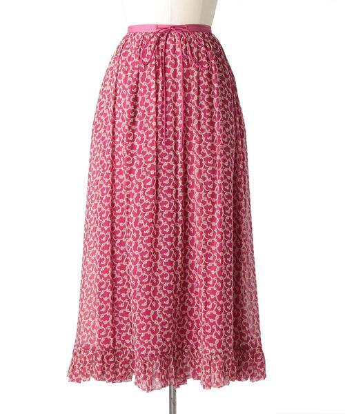 Drawer フラワープリントギャザースカート