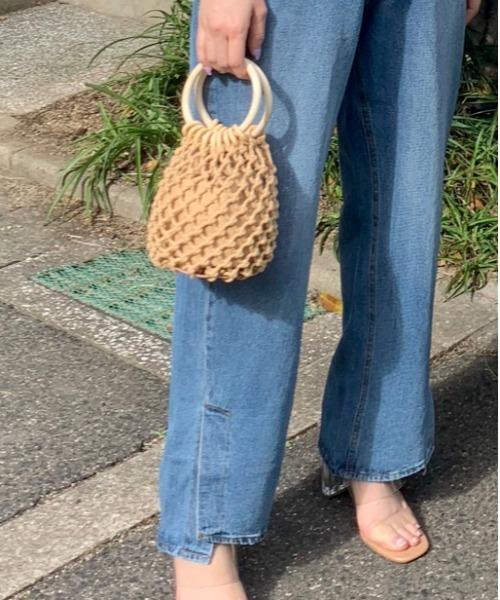 ミニかごバック/カギ編みミニバック