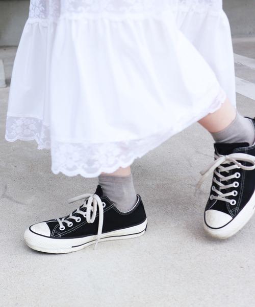 靴下屋(クツシタヤ)の「靴下屋/ コットンブレンド無地ショートソックス(ソックス/靴下)」|杢グレー
