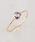 NOIR DE POUPEE(ノワールドプーペ)の「K10 天然石 スモールマロンカット リング(リング)」|詳細画像