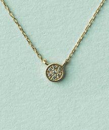 ete(エテ)のK10YG ブリリアント ダイヤモンド ネックレス(ネックレス)