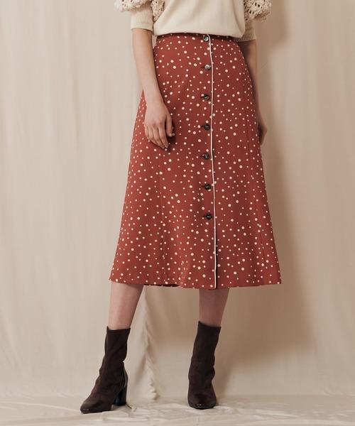 ドットガラマーメイドスカート
