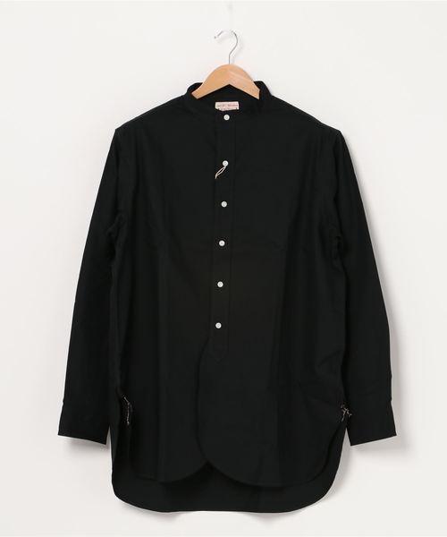 BONCOURA/ボンクラ バンドカラーシャツ