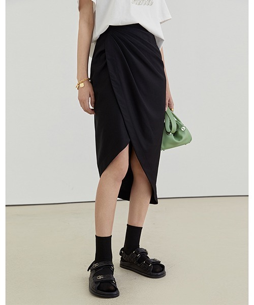 【Fano Studios】【2021SS】Asymmetrical rap skirt FX21B043