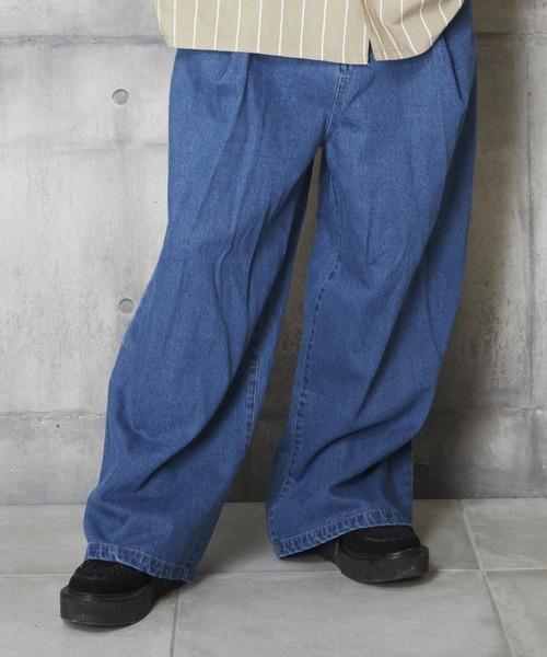 超安い品質 【セール】デニムワイドパンツ デニムプリーツパンツ(パンツ)|unrelaxing(アンリラクシング)のファッション通販, エールストア:b381e5f7 --- 5613dcaibao.eu.org