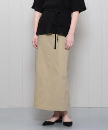 <H>TWILL TIGHT MAXI SKIRT/スカート