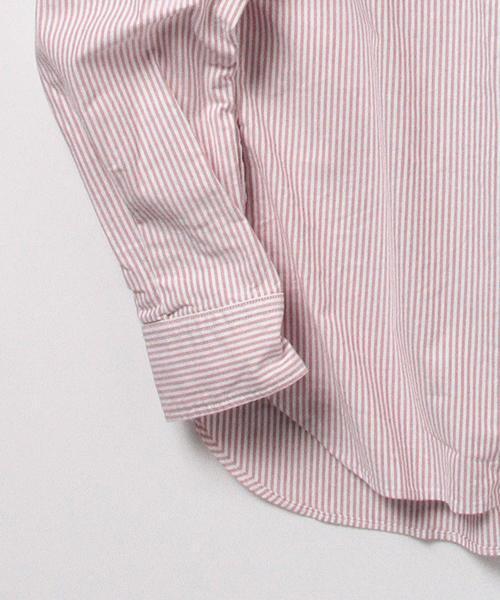 BEAMS PLUS / ストライプボタンダウンシャツ
