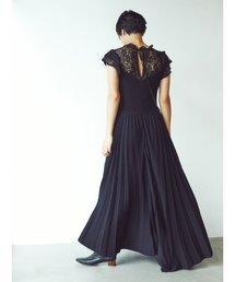 SNIDEL(スナイデル)のガーデンレースニットワンピース(ドレス)