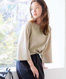 【WEB限定】アシンメトリーチュニックTシャツ