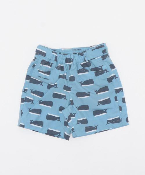 HELLY HANSEN(ヘリーハンセン)の「HJ72003/K print shorts//水着 クジラ柄(水着)」|ブルー