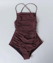 <Pale swimwear>MOSS SHARRING ONE PIECE/スイムウェア