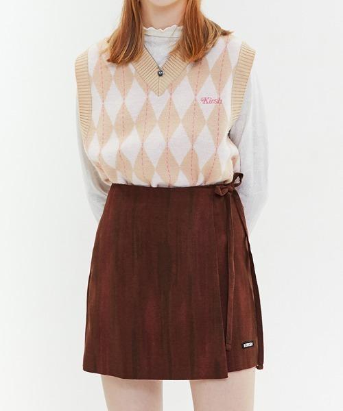 KIRSH(キルシー)の「WATER-COLOR WRAP SKIRT/ウォーターカラーラップスカート(スカート)」|ベージュ