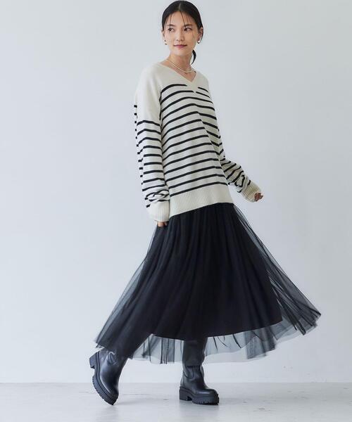 チュール フレア スカート