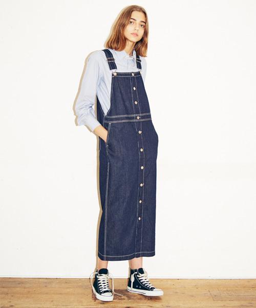 お買い得モデル フロントボタンデニムジャンパースカート(ジャンパースカート)|URVIN(アービン)のファッション通販, 大社町:d7f9b09e --- wm2018-infos.de