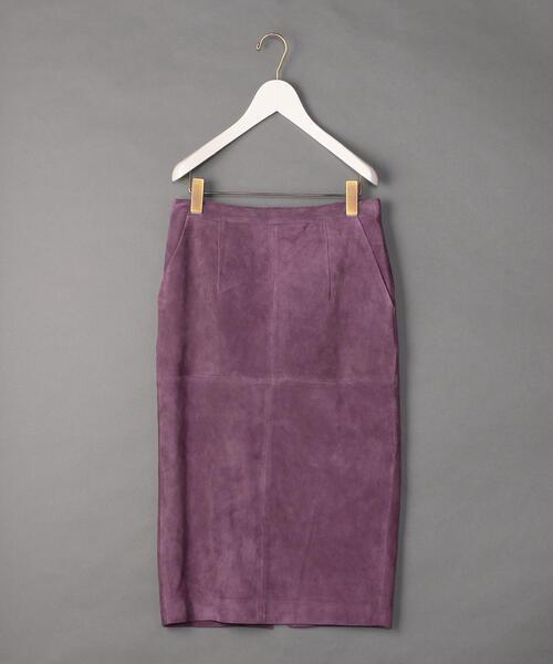 <6(ROKU)>SUEDE TIGHT SKIRT/スカート