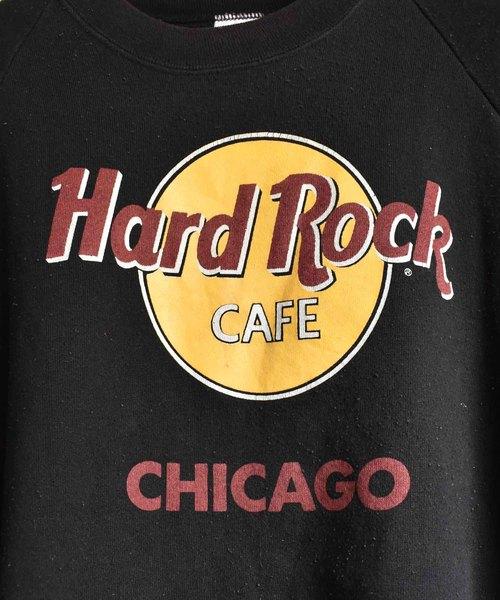 【ヴィンテージ古着】90's Hard Rock CAFE/ハードロックカフェ クルーネックスウェット