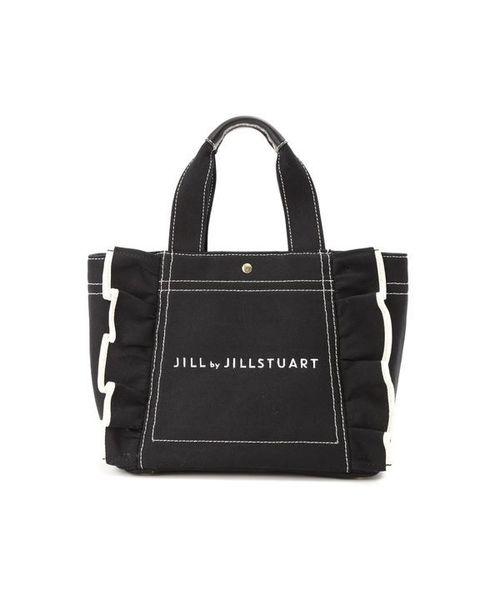 eed1780d0a65 JILL by JILLSTUART(ジル バイ ジルスチュアート)の◇フリルキャンバストートバッグ(