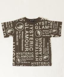 CIRCLE HEAD総柄 Tシャツ【S/M】チャコール