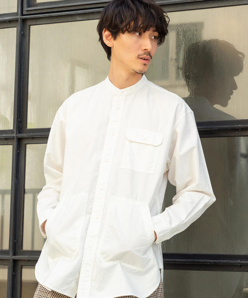 ワークバンドカラーロングシャツ|メンズ(MEN)|coen(コーエン