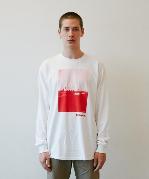 ROTTWEILER(ロットワイラー)の「Photo LS Tee(Tシャツ/カットソー)」|レッド