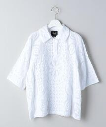 <dahl'ia × 6(ROKU)>WHITE QUILTED SHORT SLEEVE SHIRT/シャツ Ψ